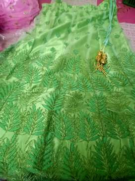 Lehanga-light green colour