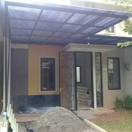 Canopy cantik rangka besi atap policarbonat