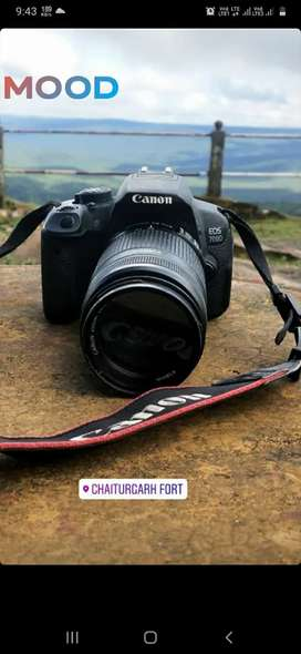 Canon 700d brand new conditions with 2 lens 18 55 & 55 250