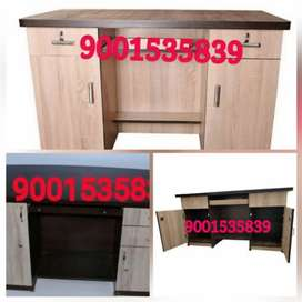 Nw wooden office table with cabinet drawer office furniture boss table