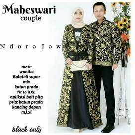 Couple batik couple sarimbit gamis baju pasangan seragam maheswari