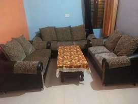 Very good condition sofa 7seater  and dining table with 8 chair