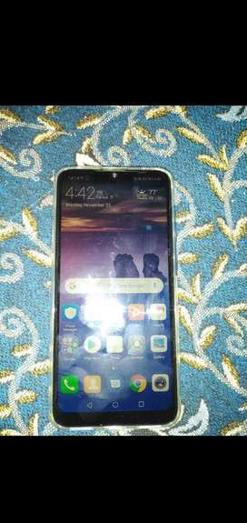 Huawei y7 prime 2019 1 month used with all accessories