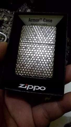 Zippo Armor Hexagon Design Black Ice