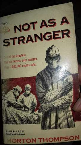 Novel impor not as a stranger cetakan 1 1956
