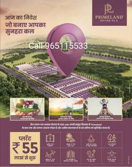 100 sq. Y plot @ 50 lac in new gurgaon with loan.