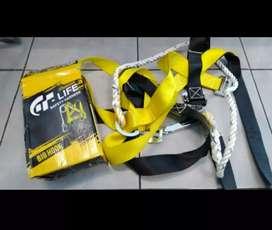 Safety Belt Body Harness Single Hook Besar Tali Pengaman Proyek Bs COD