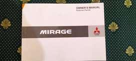MANUAL BOOK MITSUBISHI MIRAGE GLX GLS EXCEED