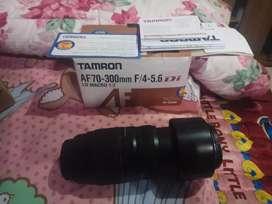 Dijual lensa tamron for canon 70-300 bisa macro