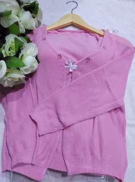 preloved sweater /atasan pink