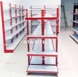 rak sembako kelontong warung display jual gondola toko minimarket atk