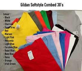 Kaos Polos Gildan paling muwurah ori 1000%