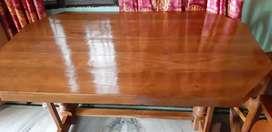 Dining table pure teak wood 4 seater