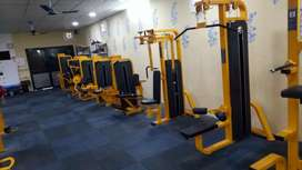 Gym equipments set up