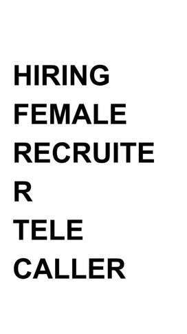 Hiring Recruiter Tele Caller