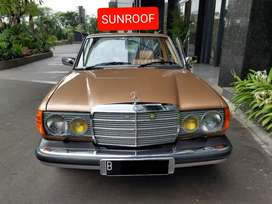 RARE. Mercedes Benz 280e Sunroof 1984 tiger klasik antik mercy