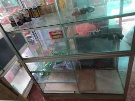 Etalase bekas estalase lemari kaca warung murah