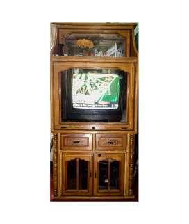 Wooden TV Almira + LG Cineplus TV