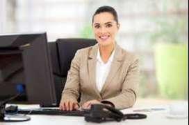 Receptionist online work