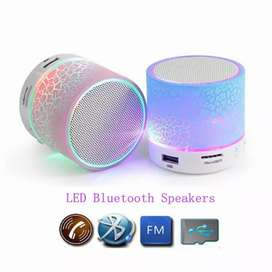Speaker Mini S10 Lampu LED Bluetooth Motif Kaca Retak