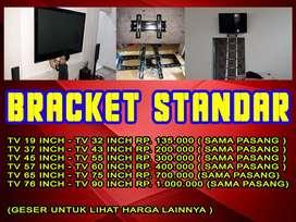 BRACKET TV LED Lcd Plasma sudah sama pasang dan bayar COD / ditempat