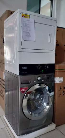 Mesin Stacked Washer Dryer LG