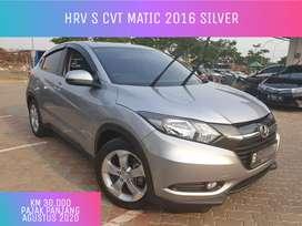 Honda HRV S CVT AT Matic 2016 Silver KM 30rb pajak panjang cash 210jt