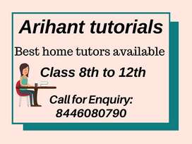 HOME TUTORS AVAILABLE