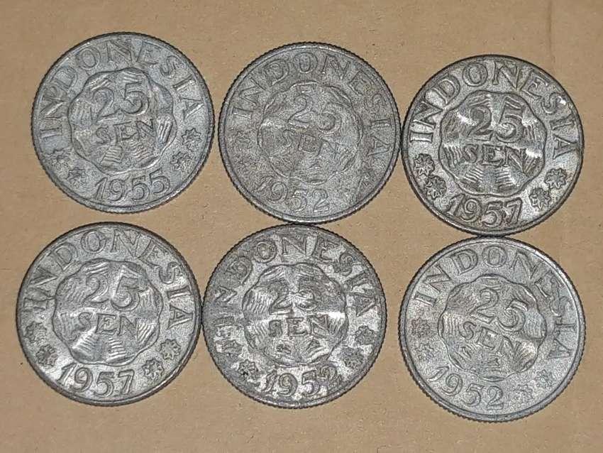 Uang Kuno pecahan 25sen tahun 1950an 0