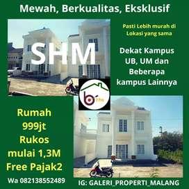 Rumah mewah 2 lantai dan rumah Kos di Pusat Kota Malang