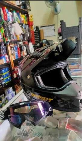 Helm supermoto + google SNAIL