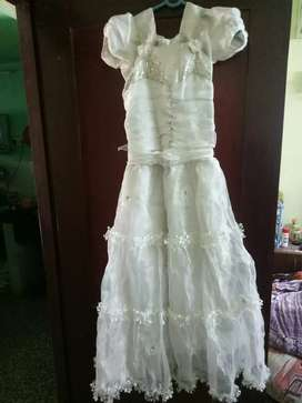 Used White frock for sale
