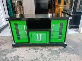 Meja TV murah / Bufet TV pendek murah bahan triplek tebal hijau muda