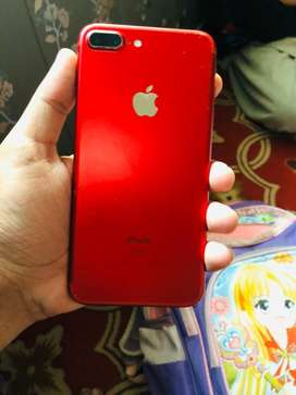 iphone 7 plus 128gb red full genuine jxt set packng wala set hy