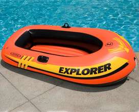"INTEX Boat Explorer 200 For 2 Person 95 KG (58"" X 33"" X 14"" )"
