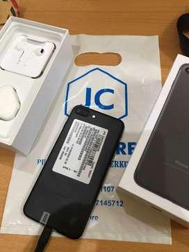 Iphone 7 plus Matteblack 128GB full set Free Case