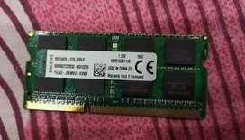 Kingston 8GB DDR3 LAPTOP RAM WITH WARRANTY BILL