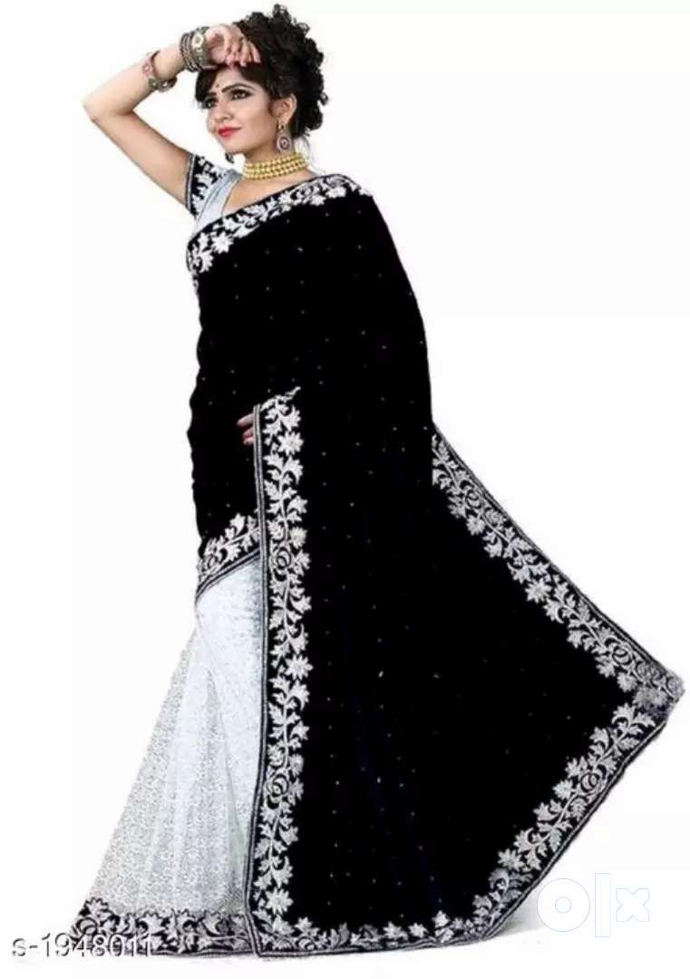 Women's velvet sarees 0