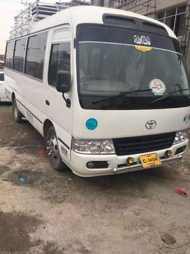 Toyota coaster available for booking in very good rates