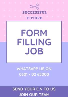 Student can now utilized free time in home earning – form filling job