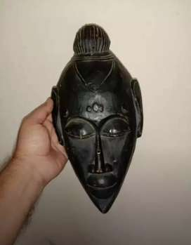 Wooden African Antique Style Mask Wall Hanging Hand Carved Art Deco