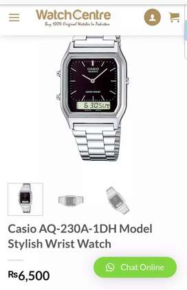 Casio AQ-230 model stylish wrist watch