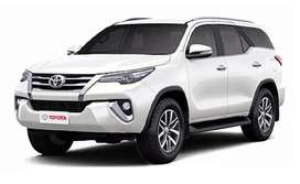 this is new car toyata fortuner at minimum down payment