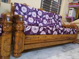 Brand New (3+1+1) Made By Order PURE Mysore teakwood Wooden Sofa set