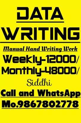 Handwriting job