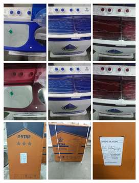 Box pack brand new 9kg semi automatic washing machine, 1 year warranty