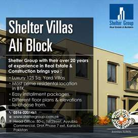 Bahria town villas on easy installment  packages