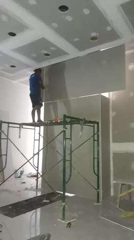 Terima pasang gypsum utk partisi/sekat ruangan dan plafon