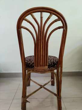 Cane Chair for Indore & Outdoor sitting | Natural Brown with Cushion