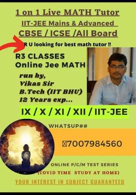 Online Pvt math tutor 9th to 12th and iit jee Exams